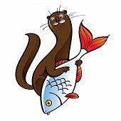 Polecat and Fish