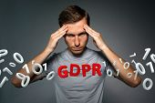 GDPR concept image. General Data Protection Regulation, the protection of personal data in European  poster