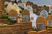 Headstones In Muslim Cemetery