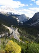 Icefield Parkway And Norh Saskatchewan River - Banff National Park, Alberta, Canada