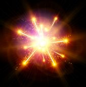 Explosion / Big Bang. Bitmap copy my vector ID 74977138