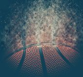 Basketball Background. Abstract Dark Basketball Background With Copy Space. poster