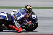 SEPANG, MALAYSIA - FEBRUARY 2: MotoGP rider Jorge Lorenzo of the Yamaha Factory Racing practices at