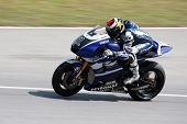 SEPANG, MALAYSIA - FEBRUARY 23: MotoGP rider Jorge Lorenzo of Yamaha Factory Racing Team practices a