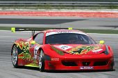 SEPANG - JUNE 17: Mok Weng Sun of Team Clearwater Racing in a Ferrari F458 takes to the tracks of th