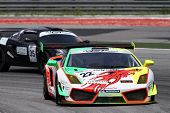 SEPANG - JUNE 17: David Lai of Team Clearwater Racing in a Lamborghini LP560GT3 takes to the tracks