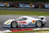 SEPANG - JUNE 19: The Team MACH Syaken RD320R car takes to the track of Sepang International Circuit
