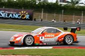 SEPANG - JUNE 19: The Lexus Team LeMans Eneos car takes to the track of Sepang International Circuit