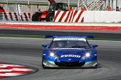 SEPANG - JUNE 18: The Honda HSV-010 car of Keihin Real Racing puts in some practice laps in the Sepa