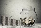Money Jar Coins Jar Isolated Jar Coins Jar Money Jar Of Coins poster