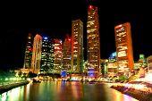 Singapore Landscape At Night