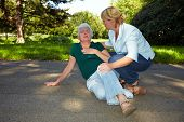 First Aid For Senior Woman