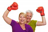 Cheering Boxing Women