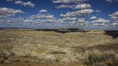 A Landscape Of The Angel Peak Scenic Area In Northwestern New Mexico. This Blm Area Showcases Colorf poster