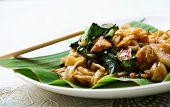 Almofada Se ew Moo, macarrão tailandês