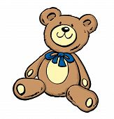 Cute Teddy Bear Sitt#43Fa9A.eps