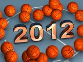 2012 In The Middle With Lots Of Basketballs