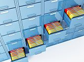 image of file folders  - fine 3d image of file cabinet folder - JPG