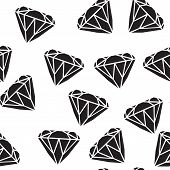 Diamonds Seamless Pattern. Vector Pattern With Diamonds. Seamless Pattern Can Be Used For Wallpaper, poster