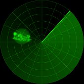 image of missles  - santa claus shows up flying in his sled on the radar screen - JPG