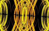 foto of funeral home  - an abstract resemblance of fiery neon lights - JPG