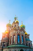 St Petersburg, Russia, Architecture Landmark. Cathedral Of Our Savior On Spilled Blood In St Petersb poster