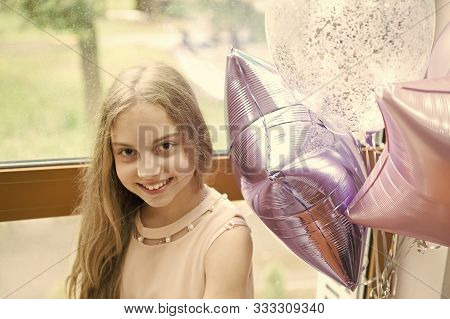 poster of It Is My Party. Girl With Balloons Celebrate Birthday. Birthday Party. Ideas Celebrate Birthday For