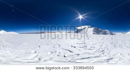 poster of Spherical Panorama Of The Pamir Mountain. Slope Of Lenin Peak To An Altitude Of 6200 Meters. Spheric