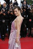 CANNES - MAY 23: Milla Jovovich at the premiere screening of 'On the Road' presented in competition at the 65th Cannes film festival on May 23, 2012 in Cannes