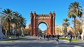 BARCELONA, SPAIN - DECEMBER 18: Arc de Triomf on December 18, 2011 in Barcelona, Spain. Designed by