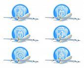 Flug Status Icon-set