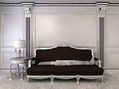 foto of baseboard  - Luxurious sofa in modern interior - JPG