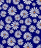 stock photo of dory  - A seamless tile with a 60s retro flower design in tribute to Doris Day - JPG