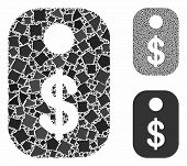 Price Tag Composition Of Abrupt Pieces In Different Sizes And Color Tones, Based On Price Tag Icon.  poster