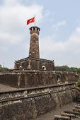 The Cot Co Or Flag Tower In Hanoi Vietnam Flies The National Yellow Star On Red.