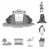 Vector Illustration Of Zoo And Park Symbol. Collection Of Zoo And Animal Vector Icon For Stock. poster