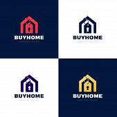 Real Estate House Sale Price Tag Vector Abstract Illustration Logo Icon Design Template Element poster
