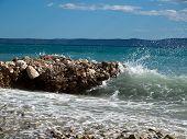 Beautiful coast in Central Dalmatia