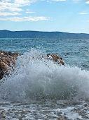 Beautiful sea and view to island