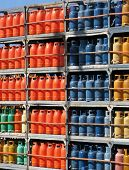 Stack Of Gas Bottles