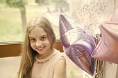 It Is My Party. Girl With Balloons Celebrate Birthday. Birthday Party. Ideas Celebrate Birthday For  poster