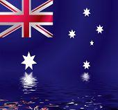 Australian Flag Water