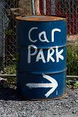 Car Park Sign.