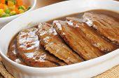 Serving Dish Of Salisbury Steak