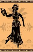greek woman with amphora stencil