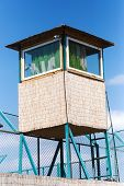 Wooden Observation Tower In Safari Park. Wildlife Safari Park poster