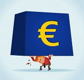 European on monetary crisis. Vector