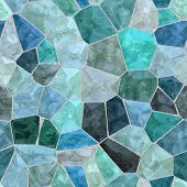 Glossy Gleaming Blue Seamless Bevel Cobble Poly Mosaic Background poster