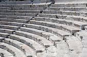 Closeup antigo teatro em Plovdiv