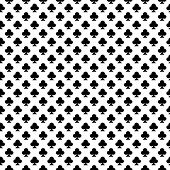 Seamless Geometric Clubs Pattern. Repeating Geometric Clubs Symmetric Ornament. Tiled Back. Repeatab poster
